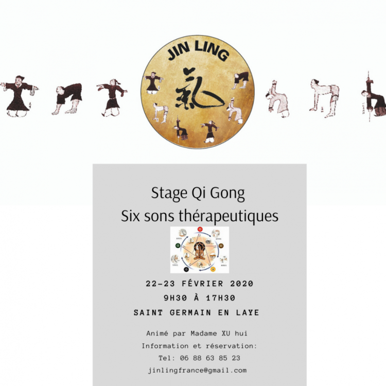 Stage Qi Gong six sons thérapeutiques
